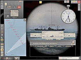 Mając na mapie oba znaczniki kolejnych pozycji celu możemy wytyczyć kurs tego ostatniego, a także poznać dystans, który przebył on w ciągu minuty. - Wyliczenie kursu i prędkości - Torpedowanie łajb - Silent Hunter 5: Bitwa o Atlantyk - poradnik do gry