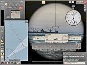 Kiedy kurs celu jest wytyczony na mapie mo�emy okre�li� k�t biegu wbijaj�c n�k� k�tomierza w punkt na kursie celu, nast�pnie w aktualn� pozycj� celu, i w ko�cu w pozycj� OP. - Wyliczenie k�ta biegu - Torpedowanie �ajb - Silent Hunter 5: Bitwa o Atlantyk - poradnik do gry