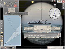 Posiadając już wszystkie dane potrzebne do przeprowadzenia ataku programujemy głębokość biegu torpedy, jej prędkość i wybieramy rodzaj zapalnika. - Atak - Torpedowanie łajb - Silent Hunter 5: Bitwa o Atlantyk - poradnik do gry