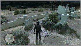 Część stroju znajdziesz w Sepulcro, na cmentarzu, tuż przy murku nieopodal jednej z rzeźb - Stroje (1)   Aktywności dodatkowe - Red Dead Redemption - poradnik do gry