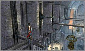 Wejdź po nich wyżej, a następnie odbij się przeskakując na belkę - Stajnie - Opis przejścia - Prince of Persia: Zapomniane Piaski - poradnik do gry