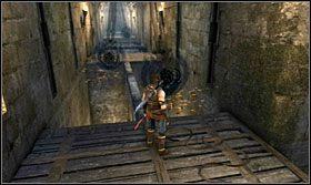 Dalszy etap to znowu wąski korytarz - Stajnie - Opis przejścia - Prince of Persia: Zapomniane Piaski - poradnik do gry