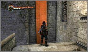 Po rozmowie z Malikiem odwróć się w prawi i wskocz na chorągiew - Stajnie - Opis przejścia - Prince of Persia: Zapomniane Piaski - poradnik do gry