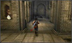 Szybko przeskocz na następną kolumnę i wybiegnij zanim drzwi się zamkną - Stajnie - Opis przejścia - Prince of Persia: Zapomniane Piaski - poradnik do gry
