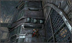 Wyczekaj aż kolce będą na samym dole i przeskocz na drugą stronę - The Works (1) - Opis przejścia - Prince of Persia: Zapomniane Piaski - poradnik do gry