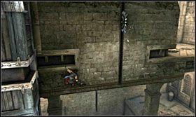 Później odbij się do wnęki naprzeciwko i przebiegnij pod piłą - The Works (1) - Opis przejścia - Prince of Persia: Zapomniane Piaski - poradnik do gry