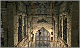 Podbiegnij na drzwi, dobij się i złap drążek - The Works (1) - Opis przejścia - Prince of Persia: Zapomniane Piaski - poradnik do gry