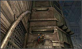 Na kolczastą kłodą przeskocz w chwil, gdy znajdzie się ona w najniższym położeniu - The Works (1) - Opis przejścia - Prince of Persia: Zapomniane Piaski - poradnik do gry