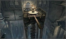 ... odbij się od drzwi i chwyć drążek, a platforma znowu podjedzie wyżej - The Works (2) - Opis przejścia - Prince of Persia: Zapomniane Piaski - poradnik do gry