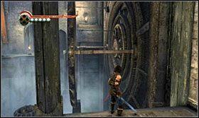 Wskocz na drążek, a następnie pod przeciwległą ścianę - The Works (2) - Opis przejścia - Prince of Persia: Zapomniane Piaski - poradnik do gry