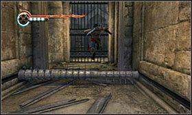 Ponad belką z kolcami musisz przeskoczyć w odpowiednim momencie - The Works (2) - Opis przejścia - Prince of Persia: Zapomniane Piaski - poradnik do gry
