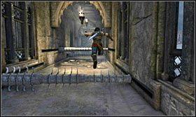 Przy następnej przebiegnij po ścianie, kiedy ta będzie podjeżdżać w górę - The Works (2) - Opis przejścia - Prince of Persia: Zapomniane Piaski - poradnik do gry