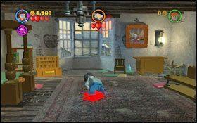 Rozpoczynasz w pokoju, gdzie atakuje Cię księga - Wieści z Azkabanu - Opis przejścia - Rok 3 - LEGO Harry Potter Lata 1-4 - poradnik do gry