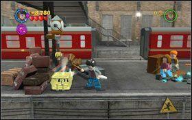 Wskocz na pociąg i przejdź na lewo - Wieści z Azkabanu - Opis przejścia - Rok 3 - LEGO Harry Potter Lata 1-4 - poradnik do gry