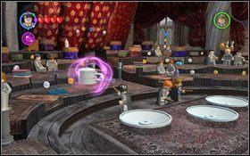 Przewieś kwiatki (WL ) #1 na haczyk obok przejścia - pozbędziesz się roślin blokujących wejście do klasy wróżbiarstwa - Zamek Hogwart #6 | Opis przejścia - Rok 3 - LEGO Harry Potter Lata 1-4 - poradnik do gry