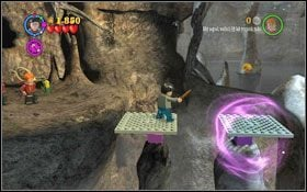 Skieruj się w prawo, po drodze użyj zaklęcia (LS ) na diabelskich sidłach #1 - Hogsmeade | Opis przejścia - Rok 3 - LEGO Harry Potter Lata 1-4 - poradnik do gry