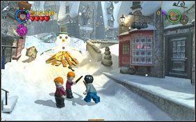 Czarodziej pozostawi po sobie pochodnię, użyj jej (WL ) na zamarzniętym śniegu #1 - Hogsmeade | Opis przejścia - Rok 3 - LEGO Harry Potter Lata 1-4 - poradnik do gry