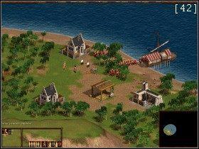Najpierw musimy uda� si� do osady pirackiej po posi�ki [41] - Zatoka Darie�ska - Kampania Angielska - Kozacy: Europejskie Boje - poradnik do gry