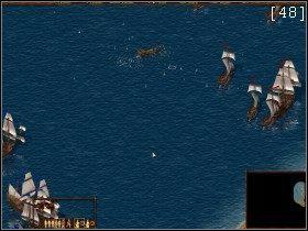 W dolnym prawym rogu mapy odnajdujemy nasz cel - wrogi zarząd miejski - Zatoka Darieńska - Kampania Angielska - Kozacy: Europejskie Boje - poradnik do gry
