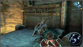 Schodzimy w dół i przeskakując po kołach zębatych [1], dochodzimy do półki skalnej z bombami [2] - Katedra Zmierzchu (3) - Opis przejścia - Darksiders - PC - poradnik do gry