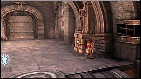 Gdy walka dobiegnie końca, wskakujemy na ścianę z prawej strony - Katedra Zmierzchu (4) - Opis przejścia - Darksiders - PC - poradnik do gry