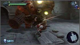 Boss [1] nie jest trudny, ale trzeba mieć na niego sposób (zwykłym machaniem mieczem nic nie zdziałamy) - Nadzorca - Opis przejścia - Darksiders - PC - poradnik do gry