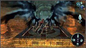 Wynurzy się druga platforma [1] i będziemy mogli przeskoczyć dalej [2] - Nadzorca - Opis przejścia - Darksiders - PC - poradnik do gry