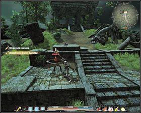 Po wykonaniu questu z chramem żywiołów porozmawiaj z Zyrą (M7A, 9) i wybierz drugą opcję dialogową - Słońce - Bagna (2) - Zadania główne - Arcania: Gothic 4 - poradnik do gry