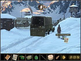 Przejdź w lewo, pod barak, w którym imprezują niemieccy żołnierze - Rozdział II - Sekret w górach (2) - Opis przejścia - Lost Horizon - poradnik do gry