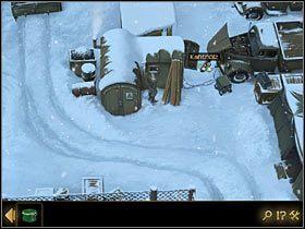 W przedostaniu się do namiotu, do którego wprowadzono Thomasa, przeszkadza Fentonowi grzebiący przy półciężarówce po prawej mechanik - Rozdział II - Sekret w górach (2) - Opis przejścia - Lost Horizon - poradnik do gry