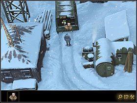 W tym momencie w ekwipunku Fentona pojawi się ikona symbolizująca Thomasa , co oznacza, że bohater pomaga mu się przemieszczać - Rozdział II - Sekret w górach (3) - Opis przejścia - Lost Horizon - poradnik do gry