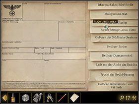 Sprawdź teraz listę wiszącą na ścianie po lewej - Rozdział II - Sekret w górach (3) - Opis przejścia - Lost Horizon - poradnik do gry