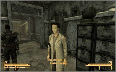 Kiedy już przekonasz Betsy, aby podjęła leczenie, porozmawiaj z porucznikiem Gorobetsem , który wyśle Cię do [Klinika medyczna Nowego Vegas ] (MsB:14), gdzie znajdziesz Doktor Usanagi - Już mnie nie boli   Zadania poboczne - Fallout: New Vegas - poradnik do gry