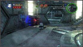 Następnie wskocz do pojemnika z ładunkami wybuchowymi, wróć nim do głównej sali i stań na jednym z pomarańczowych pól [1] - Generał Grievous (6) - Tryb fabularny - LEGO Star Wars III: The Clone Wars - poradnik do gry