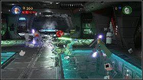 Po ich pokonaniu użyj mocy na którymś z pobliskich przedmiotów i rzuć nim w Grievousa [1] - Generał Grievous (7) - Tryb fabularny - LEGO Star Wars III: The Clone Wars - poradnik do gry