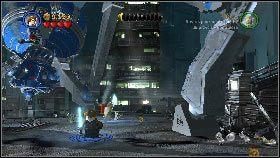 Kiedy uporasz się z działkami podejdź do jednego z odnóży i poczekaj, aż pojawi się przy nim niebieska obwódka [1] - Asajj Ventress (1) - Tryb fabularny - LEGO Star Wars III: The Clone Wars - poradnik do gry
