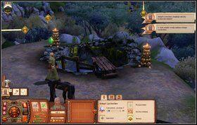 Później udajemy się do centrum miasta (wybieramy opcję z ikonką studni) - Dzień Bibelotów - Misje - The Sims: Średniowiecze - poradnik do gry