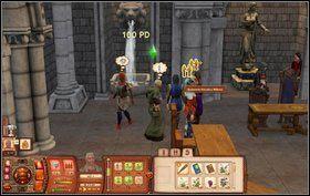 Po zbadaniu groty wracamy do zamku i meldujemy się - Dzień Bibelotów - Misje - The Sims: Średniowiecze - poradnik do gry