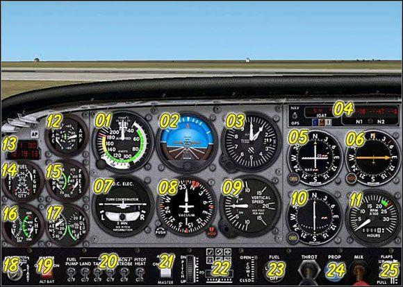 1 - Panel Cessny - Podstawy - Microsoft Flight Simulator 2002 Professional Edition - poradnik do gry