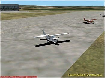 Gotowi do startu w Katowicach - Start (1) - Lot - Microsoft Flight Simulator 2002 Professional Edition - poradnik do gry