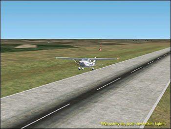 Wznosimy się pod niewielkim kątem - Start (2) - Lot - Microsoft Flight Simulator 2002 Professional Edition - poradnik do gry