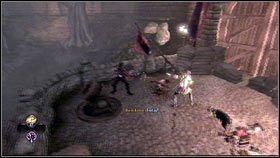 Po rozpoczęciu etapu, biegniemy na sam szczyt wzgórza [1], jak najszybciej zabijając atakujących nas żołnierzy - Bitwa o Albion - Opis przejścia - Fable III - PC - poradnik do gry