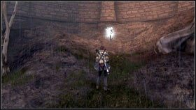 Gdy brama zostanie zniszczona, schodzimy jeden poziom niżej, a następnie przechodzimy przez dziurę w murku [1] - Bitwa o Albion - Opis przejścia - Fable III - PC - poradnik do gry