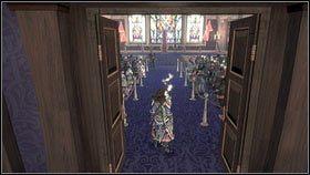 Po wysłuchaniu Waltera i naszego nowego doradcy [1], możemy pójść do sali tronowej na pierwszą rozprawę [2] - Ciężar świata - Opis przejścia - Fable III - PC - poradnik do gry