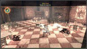 W du�ej sali, po kr�tkiej rozmowie z szefem bandy [1], zostaniemy zaatakowani przez armi� zbir�w [2] - Ci�ar �wiata - Opis przej�cia - Fable III - PC - poradnik do gry