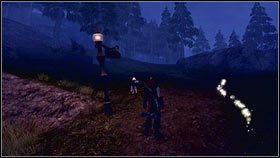Teleportujemy się w odpowiednie miejsce i rozmawiamy ze stojąca przed mostem Laurą [1] - Wioska Brightwall - Zadania poboczne - Fable III - PC - poradnik do gry