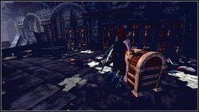 Gdy zabijemy wszystkie potwory [1], otwieramy skrzyni� na ko�cu korytarza [2] i wracamy porozmawia� z Saulem - Wioska Brightwall - Zadania poboczne - Fable III - PC - poradnik do gry