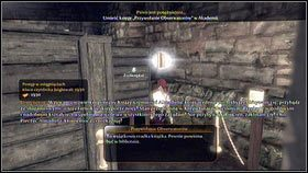 Powtarzamy operację tak długo, aż okrąg przyczepi się do ściany, a jeden z regałów przesunie [1], ujawniając tajną skrytkę - Wioska Brightwall - Zadania poboczne - Fable III - PC - poradnik do gry