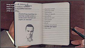 Przesłuchanie rozpocznij od zadania pytania Relationship with victim (Relacje z ofiarą) #1 - Case 12 - The Studio Secretary Murder (4) - Główne śledztwa - L.A. Noire - poradnik do gry