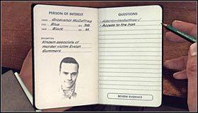 W celu utwierdzenia swojego oskarżenia musisz wybrać z listy Torn letter, czyli list od matki Evelyn #1, a to dlatego, że pierwszy fragment tego przedmiotu odnalazłeś na miejscu zbrodni, a drugi w apartamencie McCaffrey'a - Case 12 - The Studio Secretary Murder (4) - Główne śledztwa - L.A. Noire - poradnik do gry